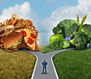 Comida chatarra vs verduras