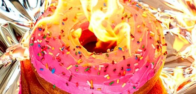 Donut en llamas